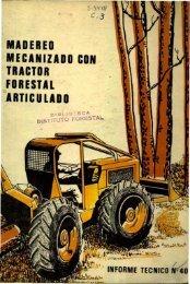 madereo mecanizado con tractor forestal articulado