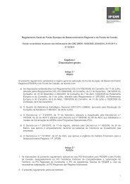 Regulamento Geral do Fundo Europeu de ... - Compete - QREN