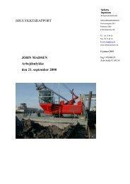 JOHN MADSEN - arbejdsulykke den 21 ... - Søfartsstyrelsen