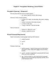 Chapter 11 – Precipitation Hardening: Lecture Outline (5th ... - cribME!