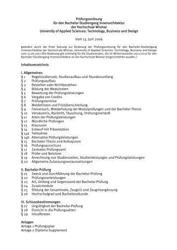 3 lehrveranstaltungen k for Innenarchitektur bachelor