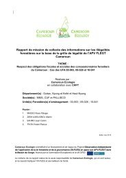 Rapport Narratif CamEco-Cameroun-version pour ... - Forests Monitor