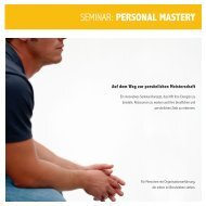 personal mastery - Dr. Christian Scharinger