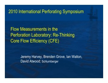 Re-Thinking Core Flow Efficiency (CFE) - Perforators.org