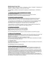 1. Verslag van de vorige vergadering (27 maart) - Gemeente ...