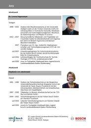 Arbeitswelt Dr. Lorenz Hagenmeyer Stuttgart 1996 ... - Bosch-Career