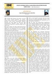 1 Temmuz 2007 Pazar - IDE