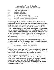 Eucharistic Prayer for Epiphany
