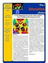 Education - Chaire UNESCO de développement curriculaire (CUDC)