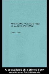 Managing Politics and Islam in Indonesia