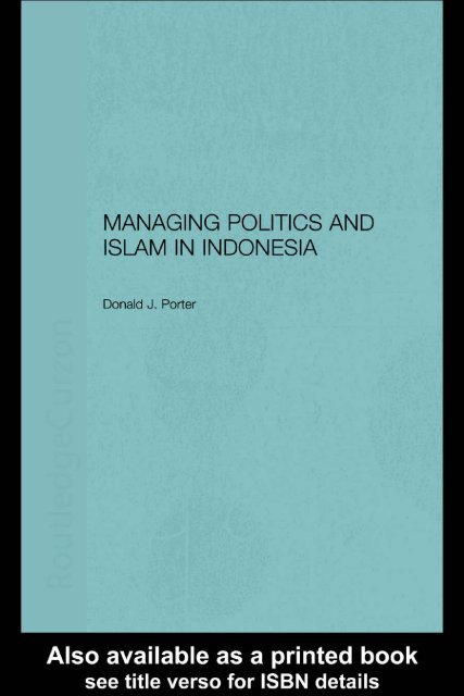 managing politics and islam in