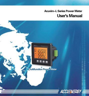 Acuvim L Manual - K - Tech, Inc.