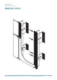 Schnittzeichnung BWM ATK 100 KL - Gasser Fassadentechnik