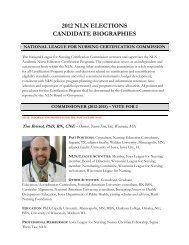 2012 nln elections candidate biographies - National League for ...