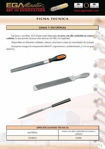 FICHA TECNICA LIMAS Y ESCOFINAS - Ega Master