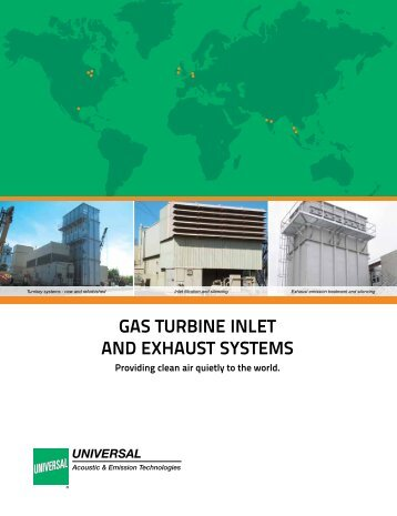 Gas Turbine inleT and exhausT sysTems - Universal