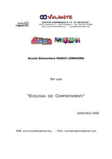 ECOLOGIA DEI COMPORTAMENTI - Scuola Primaria Longhena