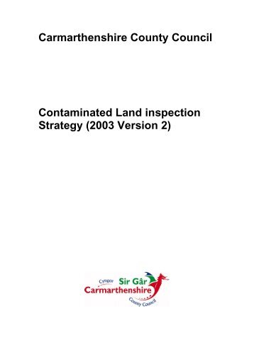 Contaminated Land Inspection Strategy