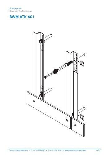 Schnittzeichnung BWM ATK 601 - Gasser Fassadentechnik