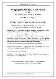 A kurzus címe: Angol nyelv kezdőknek - Zsigmond Király Főiskola