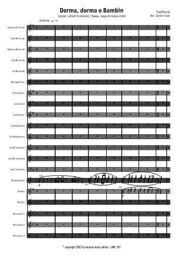 Dorma, dorma o Bambin - Score.MUS - Lucerne Music Edition