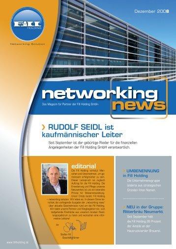 RUDOLF SEIDL ist kaufmännischer Leiter - Fillholding