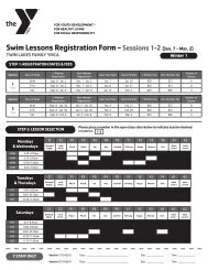 Swim Lessons Registration Form - Sessions 1-2(Jan. 7 - Mar. 2)
