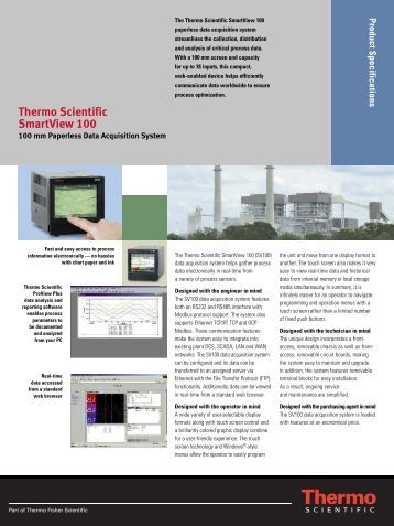 Thermo Scientific SmartView 100 - ETA Process Instrumentation