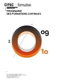 Programme formation Cipac 2009 2010