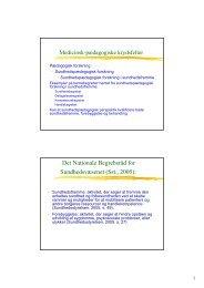 Medicinsk-pædagogiske krydsfelter