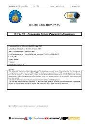 WP 1, D2 – Functional System Parameters description