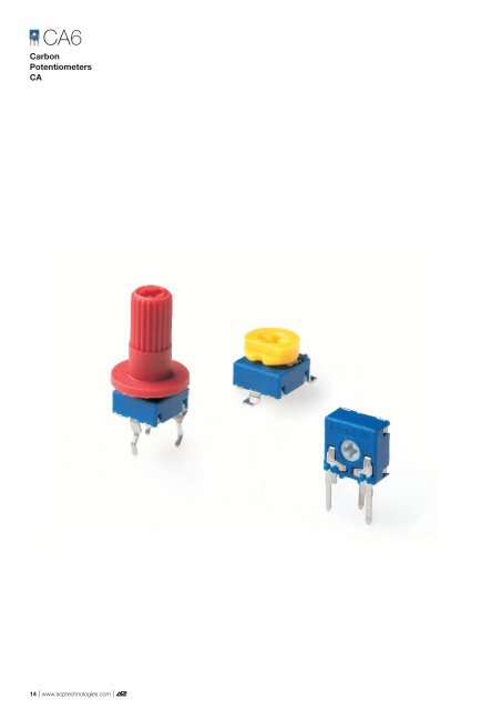 6mm Carbon Potentiometers - Electronic Components