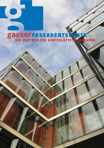 FÃœR SIE EIN TEAM SEIN - Gasser Fassadentechnik