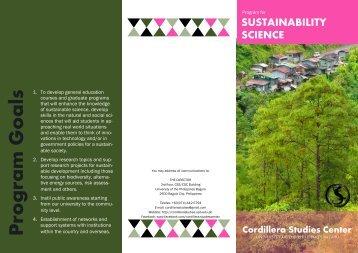 Sustainability Science - Cordillera Studies Center