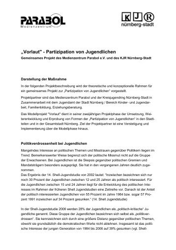 Partizipation: Kurzkonzept - Medienzentrum Parabol