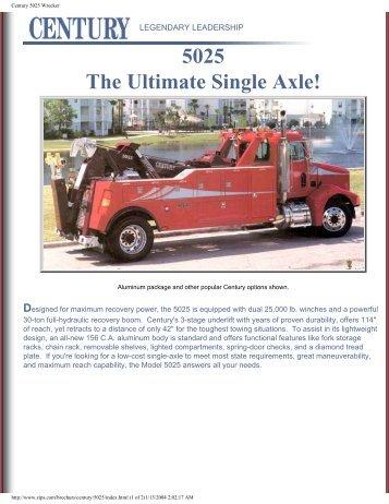 Century 5025 Wrecker - Zip's Truck Equipment