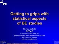 Getting to grips with statistical aspects of BE studies - BEBAC ...