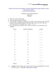 (PCB 4043) Spring 2010 EXAM 2 • Write your code on all the pages ...