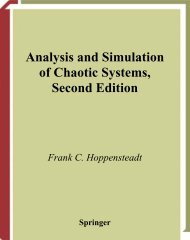 Analysis and Simulation of Chaotic Systems, Second Edition