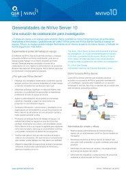 NVivo Server 10 Overview - Spanish - QSR International