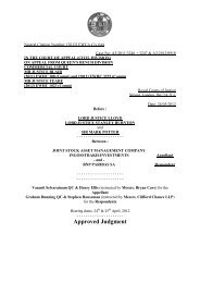 Court of Appeal Judgment Template - Support