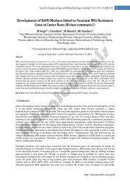 Development of RAPD Markers linked to Fusarium ... - AstonJournals