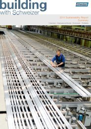 2011 Sustainability Report Summary - Schweizer Metallbau