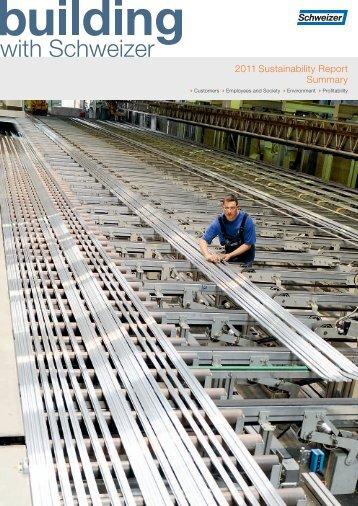 2011 Sustainability Report Summary - Schweizer Metallbau