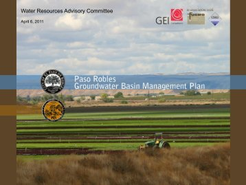 Water Resources Advisory Committee - SLOCountyWater.org