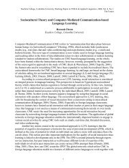Sociocultural Theory and Computer-Mediated Communication ...