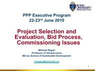 Project Selection and Evaluation, Bid Process, Commissioning Issues