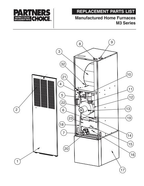 mobile home intertherm furnace parts diagram
