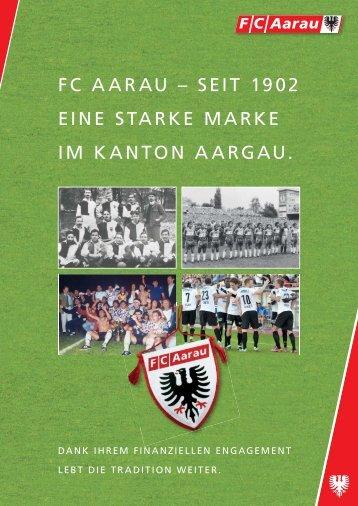 Aktienkapitalerhöhung (Flyer) - FC Aarau