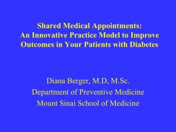 Shared Medical Appointments: An Innovative Practice Model to ...